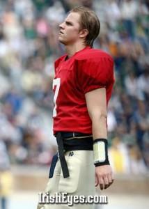 Jimmy Clausen - Notre Dame Quarterback