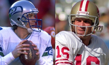 Rick Mirer and Joe Montana