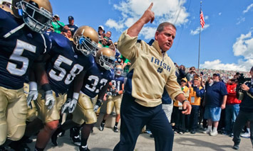 Brian Kelly should lead Notre Dame to 10 wins in his second season as the head coach of the FIghting Irish.   (Photo / IconSMI)