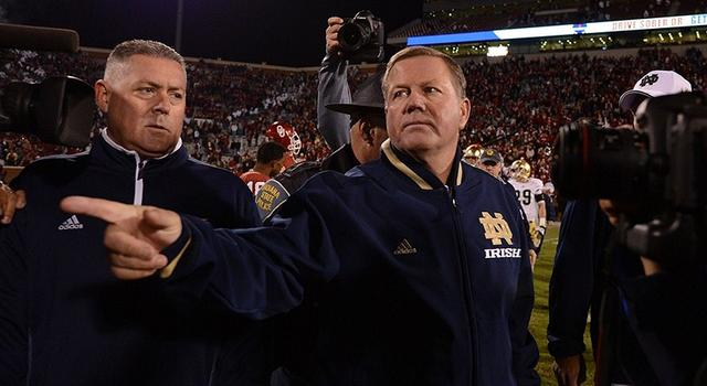Brian Kelly and Notre Dame will meet Alabama January 7th in Miami.