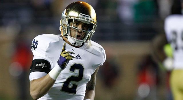 Notre Dame - Bennet Jackson breaks up pass against Boston College