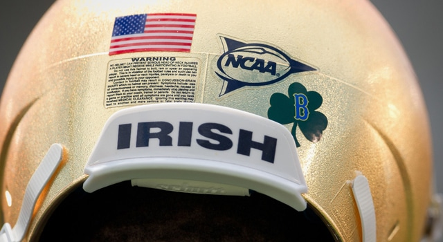 Notre Dame Helmets - Boston Tribute