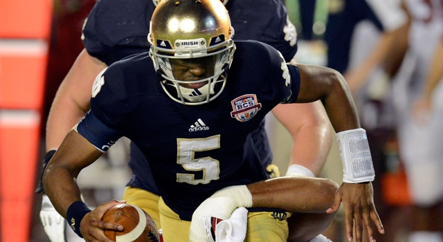 Everett Golson Returning to Notre Dame