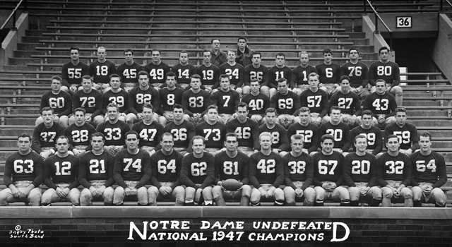 Notre Dame's 1947 National Championship Team
