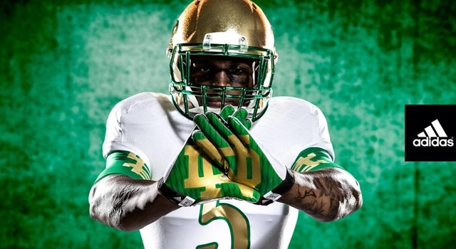 2013 Notre Dame Football Shamrock Series Jerseys