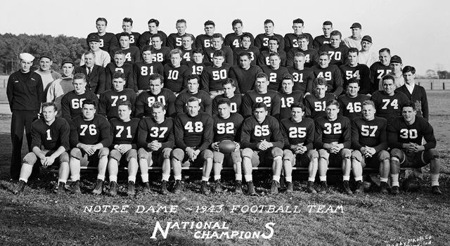Notre Dame's 1943 National Championship - Notre Dame ...