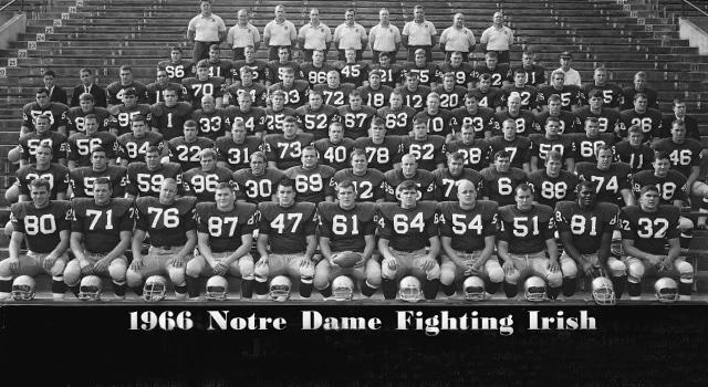 Notre Dame S 1966 National Championship Uhnd Com