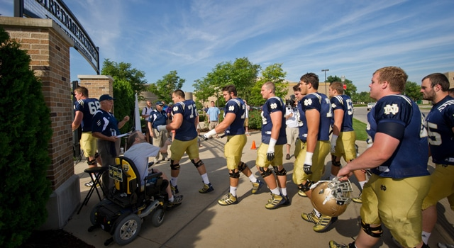 Notre Dame Practice August 12
