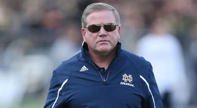 Brian Kelly - Notre Dame vs. Navy