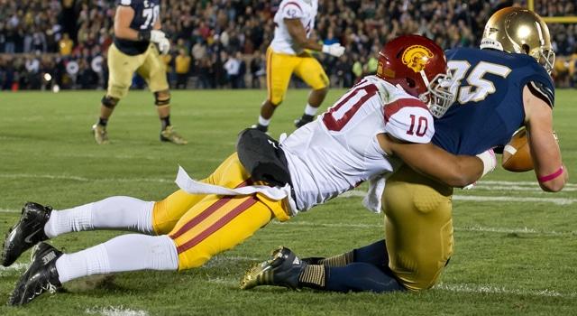 Tory Niklas - Touchdown vs. USC