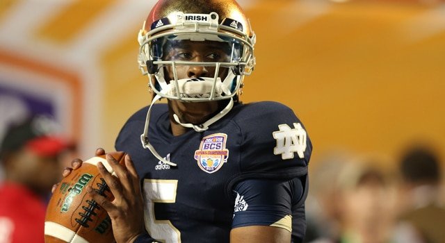 Everett Golson - Readmitted to Notre Dame