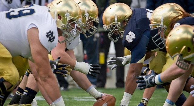 Notre Dame caps off spring football 2014 on Saturday in the annual Blue Gold game.  (Photo: Matt Cashore-USA TODAY Sports)