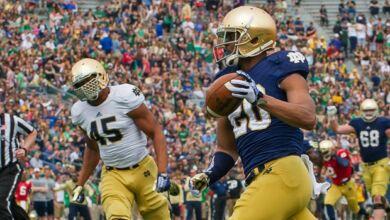 CJ Prosise - 2014 Notre Dame Blue Gold Game
