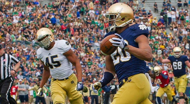 CJ Prosise - 2014 Notre Dame Blue Gold Game