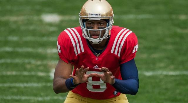 Malik Zaire - 2014 Notre Dame Blue Gold Game