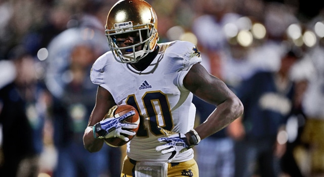 Davaris Daniels - Notre Dame WR Readmitted