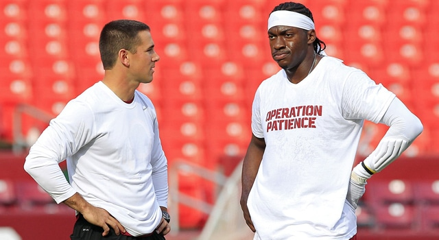 Will Matt LaFleur's NFL experience coaching RG III pay off on the recruiting trail for Notre Dame.  (Photo: Geoff Burke / USA TODAY Sports)