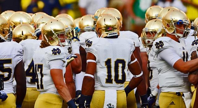 Notre Dame Huddle