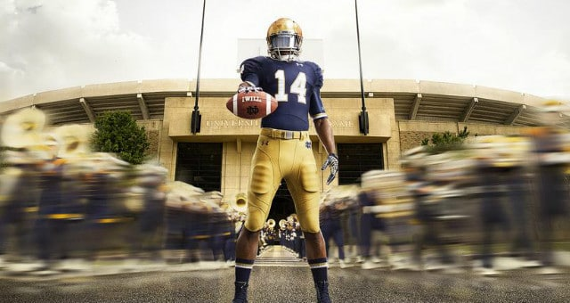 the latest 31585 6ae59 New Notre Dame Football Under Armour Uniforms Unveiled // UHND