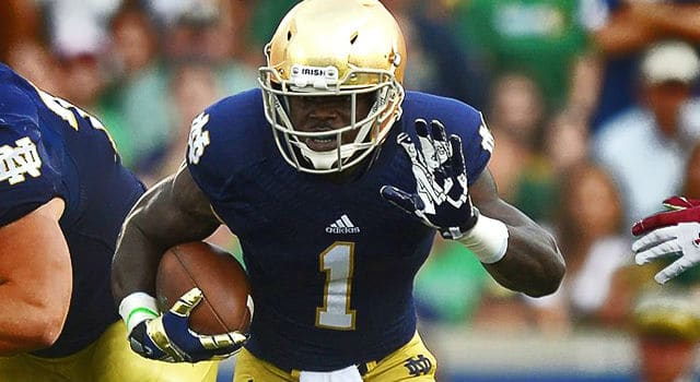 Can sophomore Greg Byrant help spark the Notre Dame punt return game? (Photo: Robin Alam / Icon SMI)