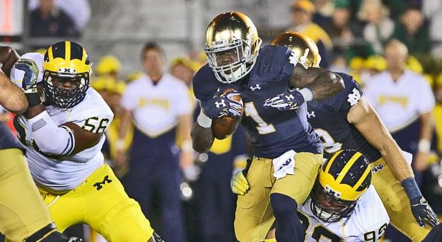 Greg Bryant - Notre Dame vs. Michigan