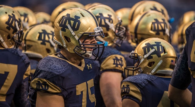 official photos 3146d 17a0a A Look Back at Every Notre Dame Shamrock Series Uniform ...