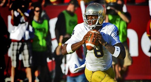 Malik Zaire - Notre Dame QB v. USC