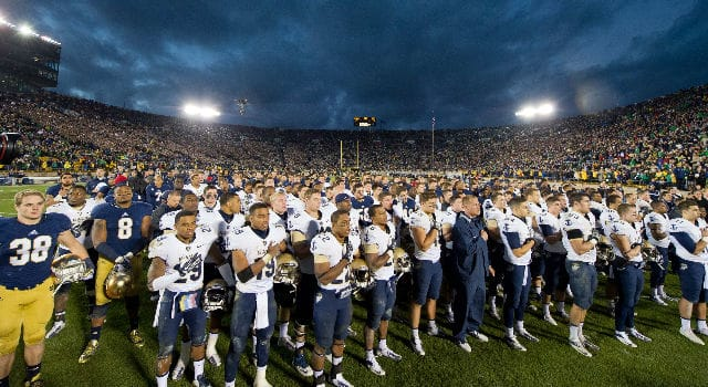 Navy and Notre Dame rivalry visits Navy town