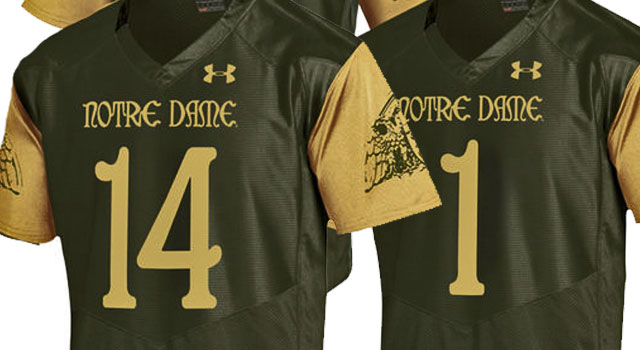 b63bb2809 Notre Dame just unveiled the 2016 Shamrock Series jerseys and once again  the Irish and partner Under Armour did not disappoint.