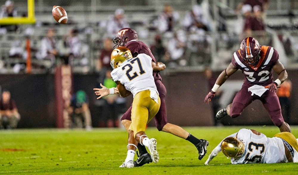 5 Things I Liked: Notre Dame vs. Virginia Tech '18 // UHND.com