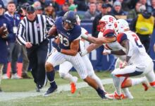 Notre Dame WR Chase Claypool in action vs. Syracuse