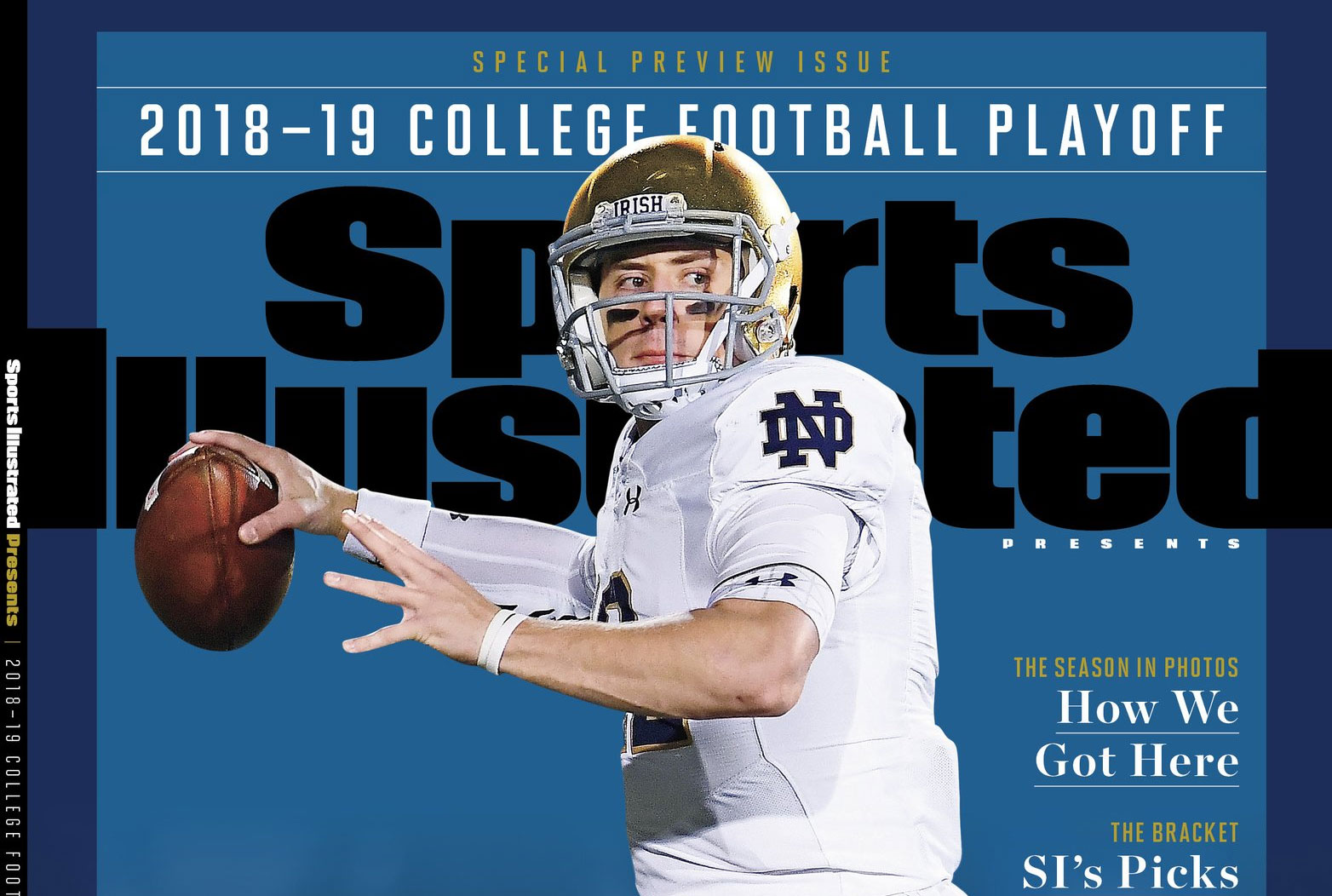 Notre Dame Qb Ian Book Lands On Sports Illustrated Cover