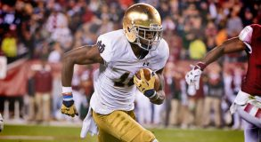 Notre Dame needs Torii Hunter to emerge as a star from a group of gren wide receivers this season.  (Photo: Kyle Ross/Icon Sportswire)